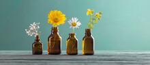 Medicinal Plants And Brown Bot...