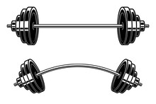 Illustration Of Barbell Engrav...