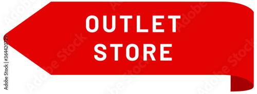 Obraz na plátně Outlet Store web Sticker Button