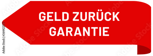 Geld zurück Garantie web Sticker Button Canvas Print