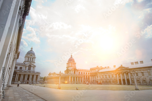 Old Royal Naval College; Greenwich; London Fototapet