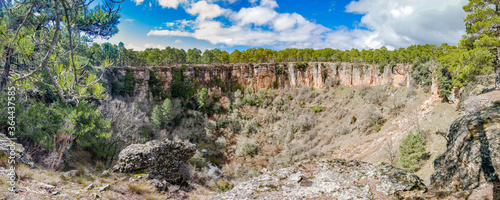 Wide angle of deep wolf torca in Cuenca
