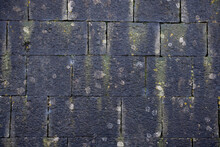 Slate Roof With Moss Background