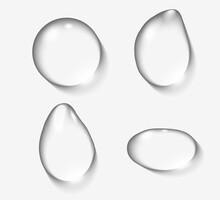 Mockup Realistic Water Drops I...