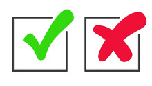 Checkmark Green Tick And Red C...