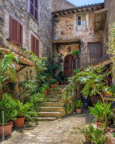 Fototapety, obrazy: Scenic sight in the village of Castiglione in Teverina, Province of Viterbo, Lazio, Italy.