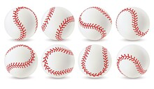 Baseball Ball. Leather White S...