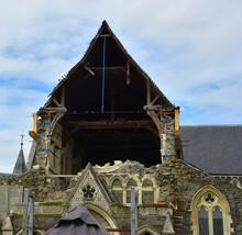 Church Suffering Earthquake Damage In New Zealand