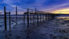 Wooden Pier In Front Of Arthur...