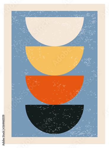 Fotografija Minimal 20s geometric design poster, vector template with primitive shapes