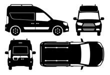 Mini Van Silhouette Vector Ill...