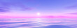 canvas print picture - pink and blue sunset wide background