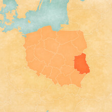Map Of Poland - Lublin