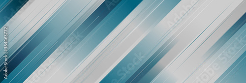 Photo Blue and grey stripes abstract geometric tech background