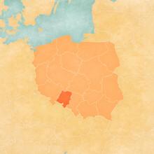 Map Of Poland - Opole