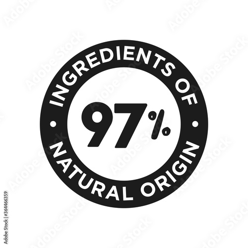 Fototapeta 97% ingredients of natural origin icon