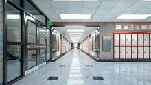 School Hall And Corridor Inter...