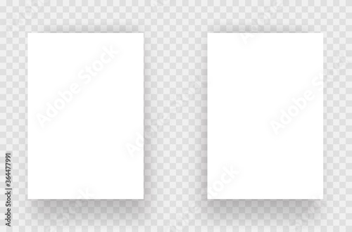 Fototapeta A4 paper vector isolated mockup obraz