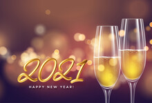 2021 Golden Lettering New Year...