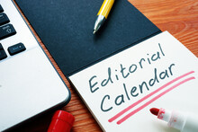 Editorial Calendar Or Publishing Schedule For Content In The Notebook.