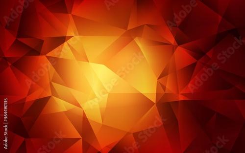 Fényképezés Dark Orange vector triangle mosaic template
