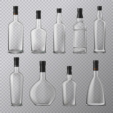 Empty Alcohol Bottles Set