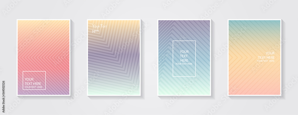 Fototapeta Minimal modern cover design. Dynamic colorful gradients. Future geometric patterns. Blue, pink, yellow, green, orange, purple placard poster template.