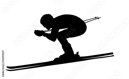 Foto alpine skiing black silhouette man athlete skier