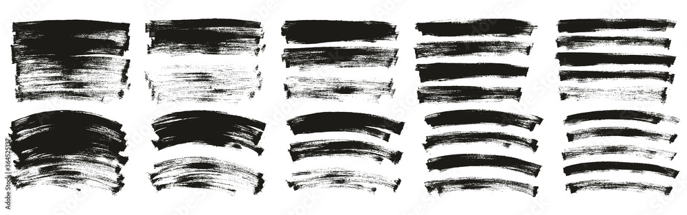 Fototapeta Flat Paint Brush Thin Long & Curved Background Ultra Mix High Detail Abstract Vector Background Ultra Mix Set