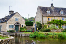 Old Style English House In The Cotswolds Know As Area Of Outstanding Beauty (AONB), England, United Kingdom, Europe