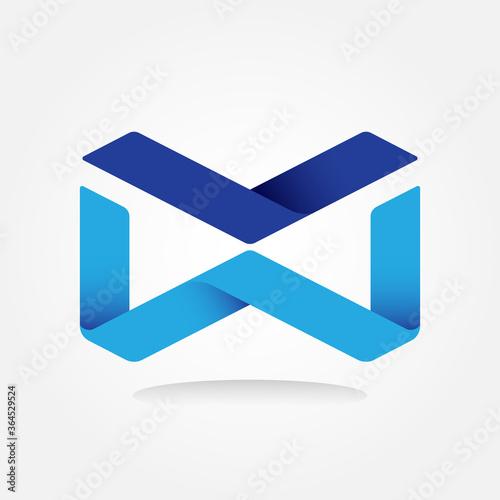 Fototapeta Letter VW Monogram Sports Techno Developer Gradient Color Graphic Logo Design