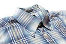 Blue Check Shirt With Button D...
