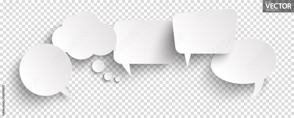 Fototapeta sticker speech bubbles with shadow