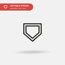 Home Plate Simple Vector Icon. Illustration Symbol Design Template For Web Mobile UI Element. Perfect Color Modern Pictogram On Editable Stroke. Home Plate Icons For Your Business Project