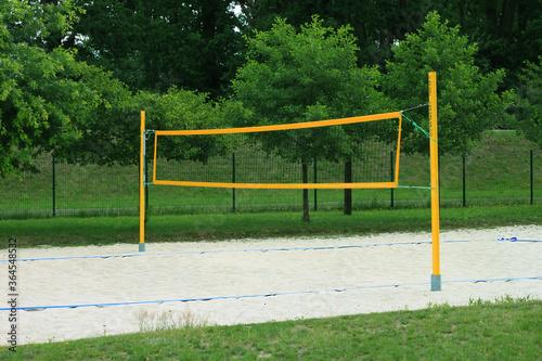 Fototapeta Boisko do gry w siatkówkę. obraz