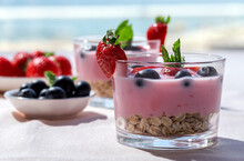 Homemade Yogurt With Strawberr...