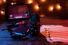 Black Retro Photo Camera With ...