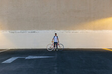 Man With A Bike In The Middle ...