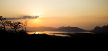 Scenic View Of A Sunset Over H...