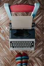 Close Up A Typewriter