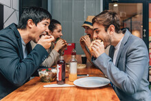 Friends Eating