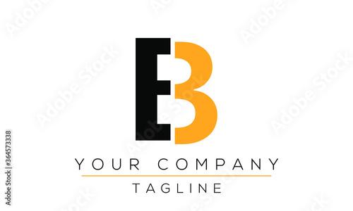 Fototapeta Letter EB Logo Design, Creative Modern Icon E B