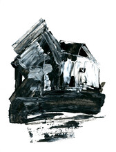 An Old Village House, Abstract...