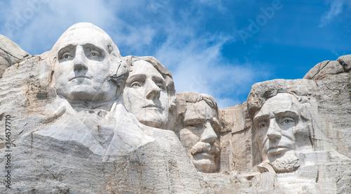 Obraz na plátně Famous Landmark and Sculpture - Mount Rushmore National Monument, near Keystone,