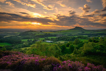 Sunset Over Roseberry Topping,...