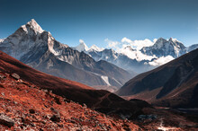 View Of Ama Dablam Peak In Him...