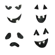 Halloween Pumpkins Carved Face...