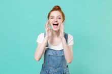 Cheerful Young Readhead Girl I...