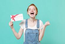 Joyful Young Readhead Girl In ...