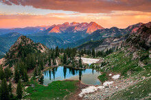 Summer Sunset In The Wasatch M...